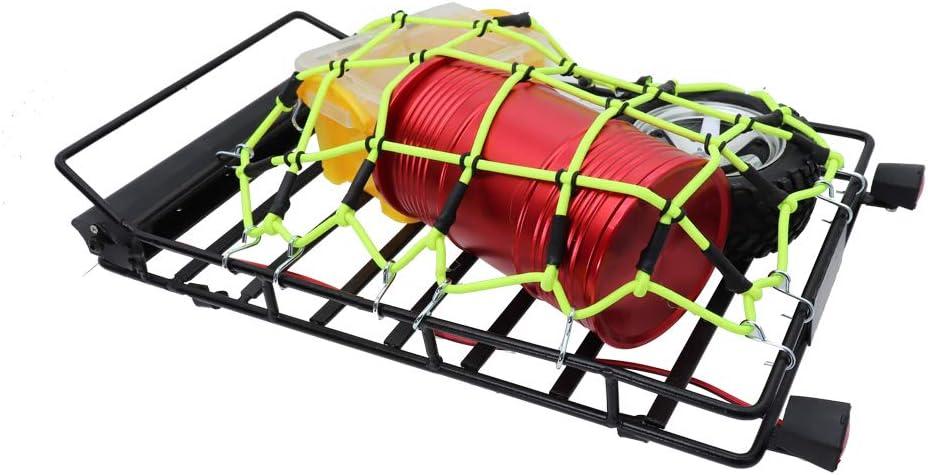 Black REhobby 1//10 RC Elastic Luggage Net 19x12cm with Hooks for 1:10th RC Crawler Rock Climbing Truck Car D90 TRX4 Roof Rack