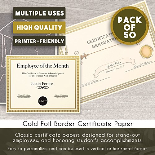 amazon com award certificates 50 blank plain ivory paper sheets