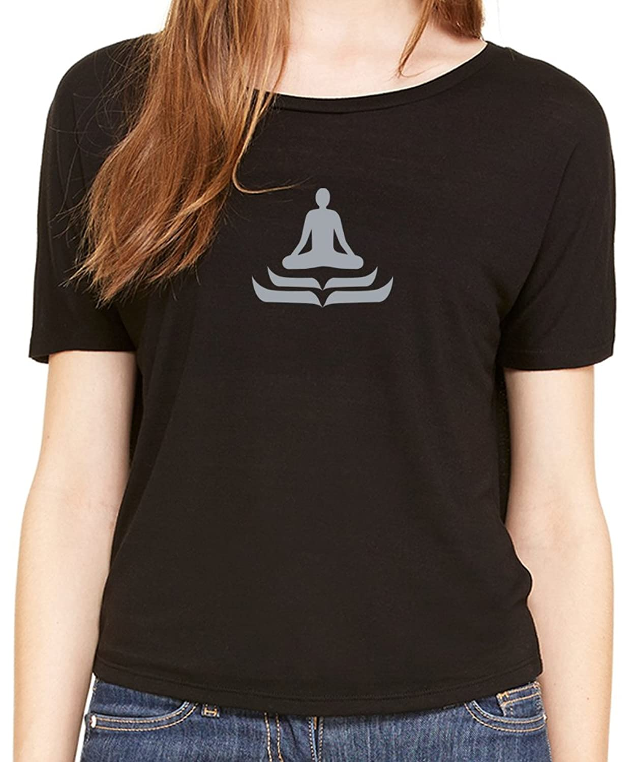 "Yoga Clothing For You Ladies ""Lotus Pose"" Open Back Shirt"