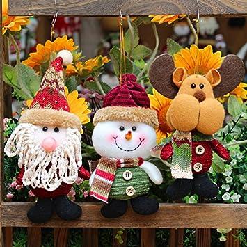 Manualidades Para El Hogar Navidad.Feliz Navidad Papa Noel Muneco Colgantes Decoracion De Arbol