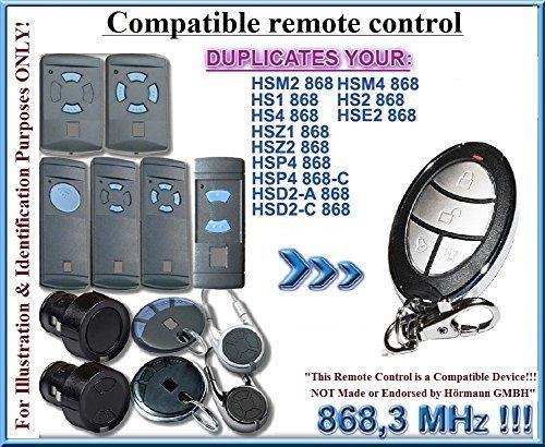 HSD2-A / HSD2-C sostituzione compatibile trasmettitore remoto, telecomando clone, 868.3Mhz fixed code keyfob