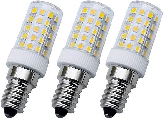 LumenTY [3 unidades] Bombillas LED E14 SES No Estroboscópicas de 360 ° ángulo de haz 8 W Equivalentes a Bombillas Halógenas de 75 W Blanco cálido 3000 K Para Refrigeradores y Campanas Extractoras: Amazon.es: Iluminación