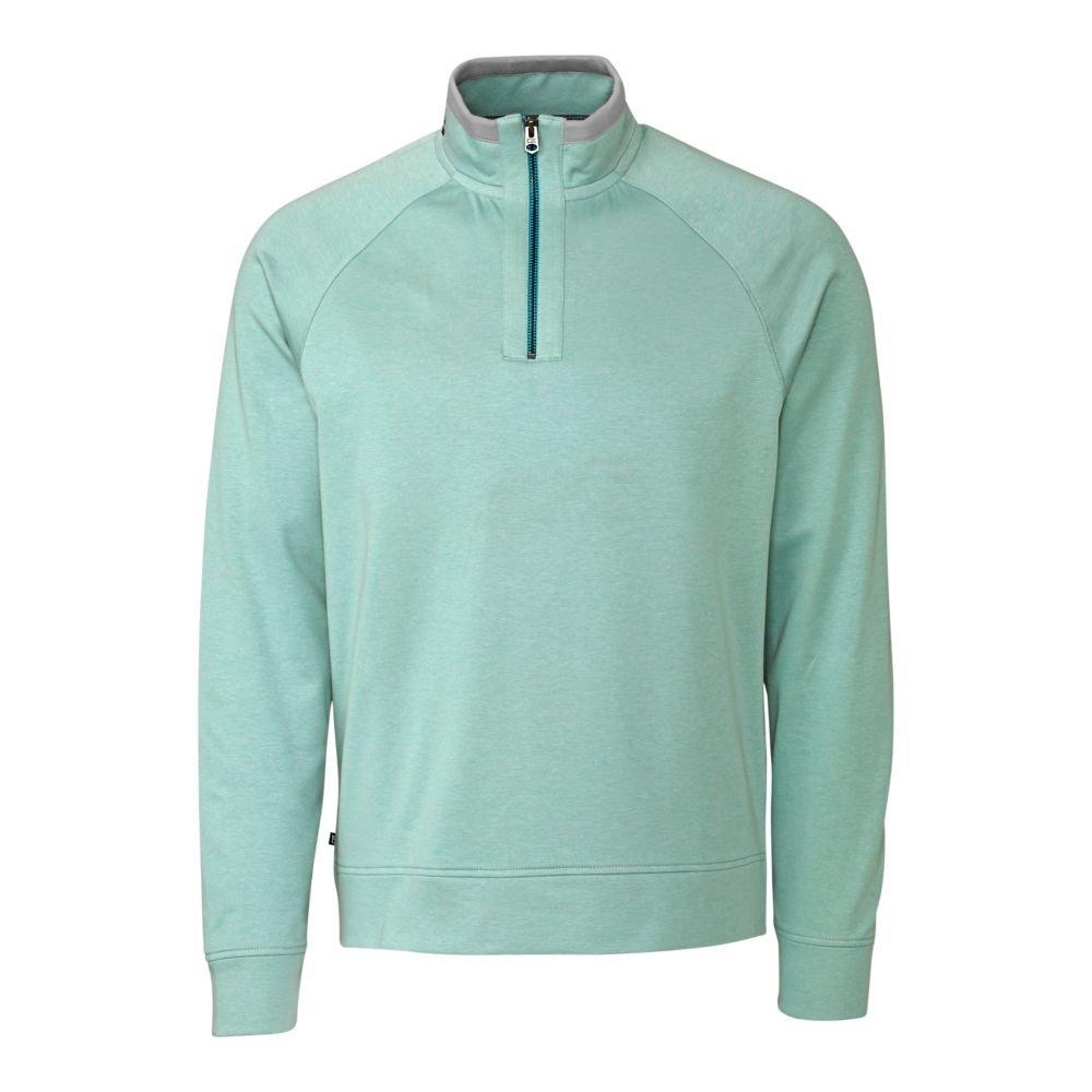 Cutter & Buck Men's Big and Tall Emery Half-Zip Sweatshirt, Channel, 5X/Big