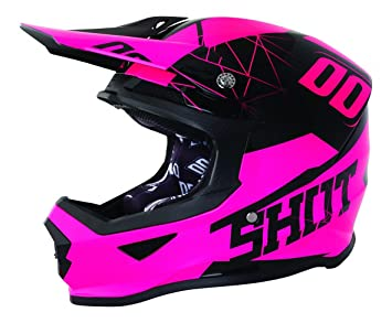 SHOT Casco Cross Furious espectro neón rosa T negro rosa, talla XL