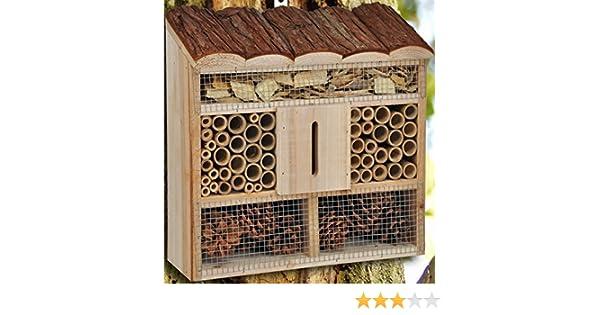 Hillfield® - Hotel para insectos grande o compacto, colmenar, nido y ayuda para cría: Amazon.es: Productos para mascotas