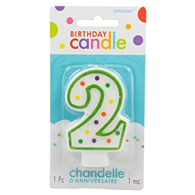 Number 2 Polka Dot Candle: Toys & Games