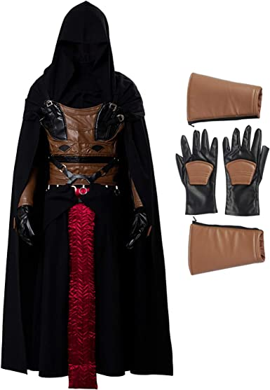 ClSSTEV Men's Darth Revan Cosplay Costume Full Set Outfits Halloween Tunic Hooded Robe Knight Costume, XXX-Large: Amazon.ca: Clothing & Accessories
