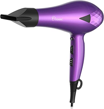 Ovonni Ionic Hair Dryer with Bonnet Hood, Pro 2000W Negative