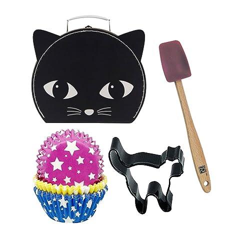 Partypartycompany - Maleta pequeña para gatos, color negro ...