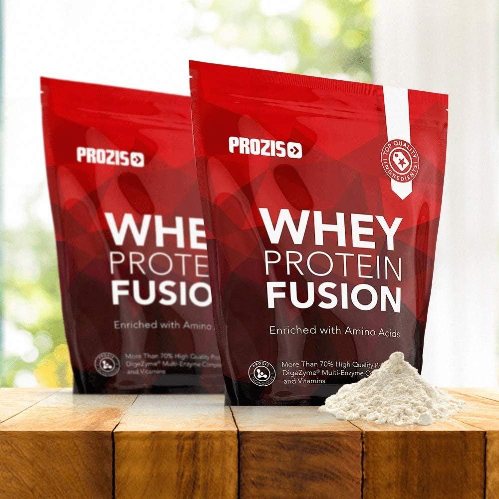 Prozis Whey Protein Fusion, Sabor Galletas y Crema - 900 gr