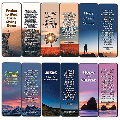 - Hope Bible Verses Bookmarks (60 Pack) - Perfect Giveaways for Sunday School and Ministries Designed to Inspire Women and Men