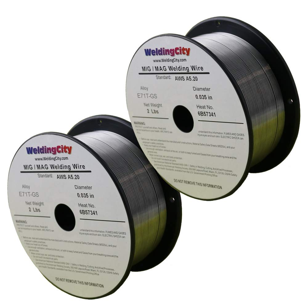 Flux Core Welding Wire >> Weldingcity 2 Rolls Of E71t Gs Flux Core Gasless Mild Steel Mig Welding Wire 0 030 0 8mm 2 Lb Spool