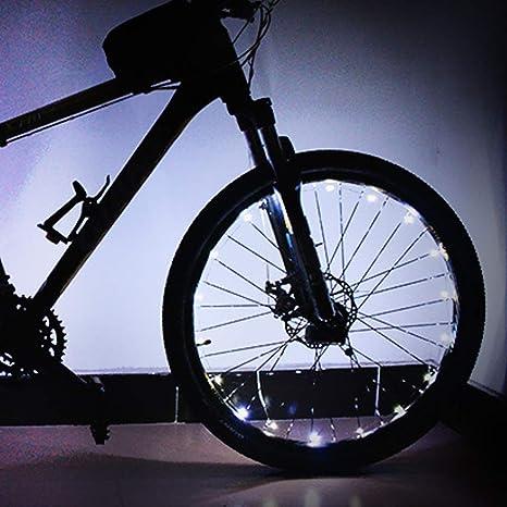 FOONEE - Luces LED para Bicicleta (2 Pilas AA, luz de Rueda de ...