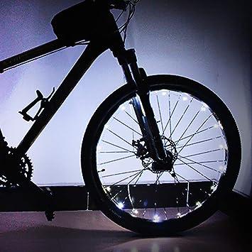 FOONEE - Luces LED para Bicicleta (2 Pilas AA, luz de Rueda de Bicicleta