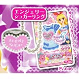 Aikatsu! Ring Charm [4. Engelie Sugar ring + mini card PV-046 blue ruffle sleeve T-shirt (single item)