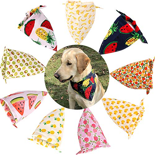 (TAOBABY Boys/Girls 8PCS/Pack Pet Puppy Dog Cat Bandanas Dog Classic Plaid Patterns Scarf for Small,Medium Size Dog,Large Cats (Summer Patterns))
