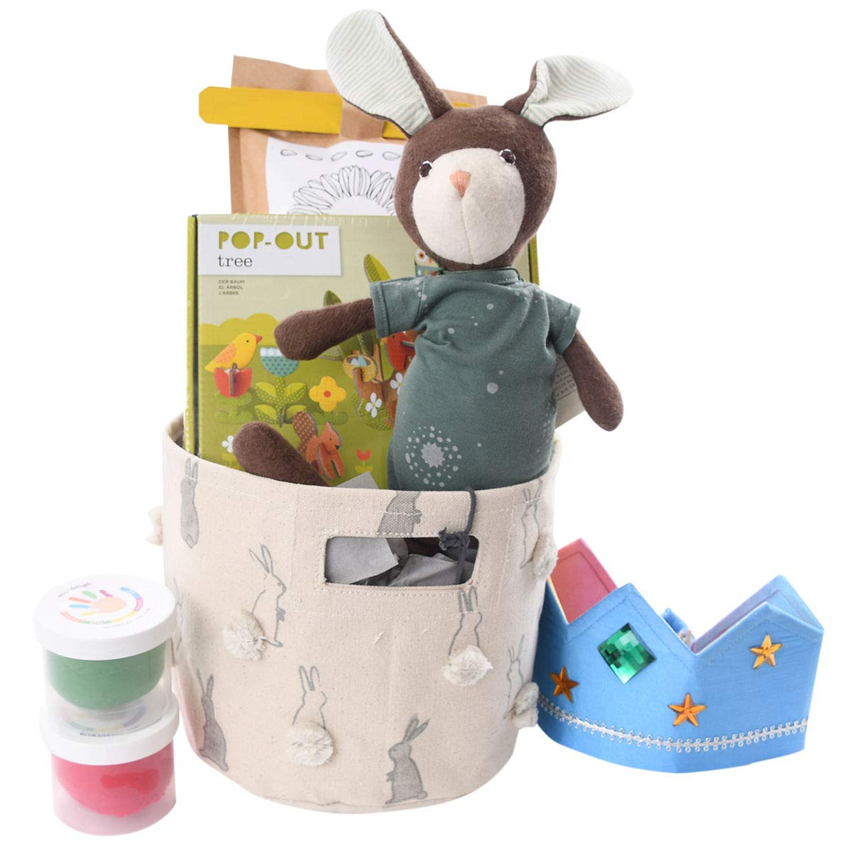 Children's Birthday - Easter Gift Basket for Boys - Eco-Friendly, Organic