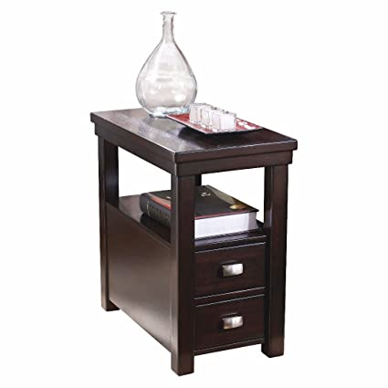 Exceptionnel Contemporary Narrow Nightstand Wooden Espresso Wenge Chair Side End Table  With 2 Storage Drawer