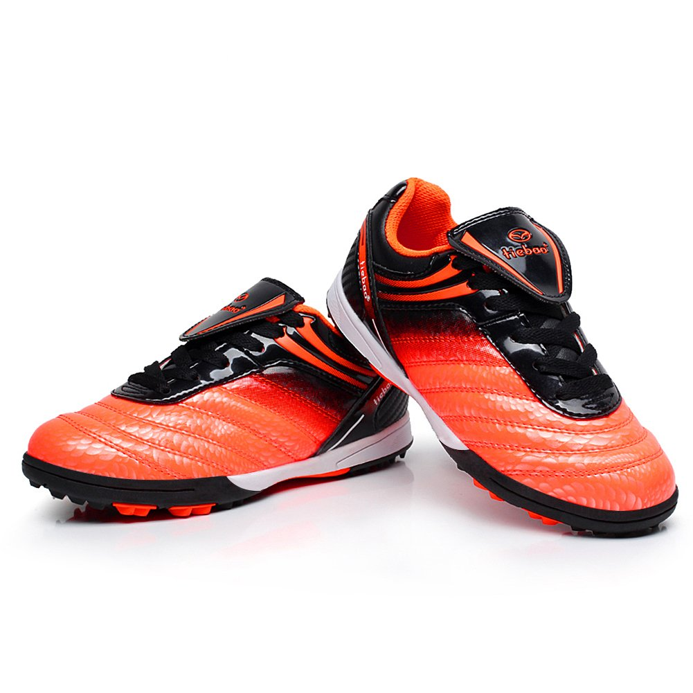 Tiebao Boys Children Hard Ground Speed Patent Leather Football Soccer Shoe