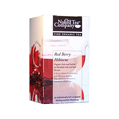 The Naked Tea Company Fine Organic Red Berry Hibiscus Tea 4 Boxes X