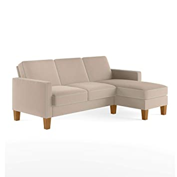 Marvelous Novogratz Bowen Sectional Contrast Welting Beige Sofa Pabps2019 Chair Design Images Pabps2019Com