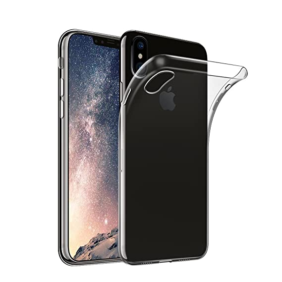 new product ea571 7b2b3 iPhone X Case - AINATU Transparent Premium TPU Clear Case Shock-absorption  Cover for Apple iPhone X(Transparent)