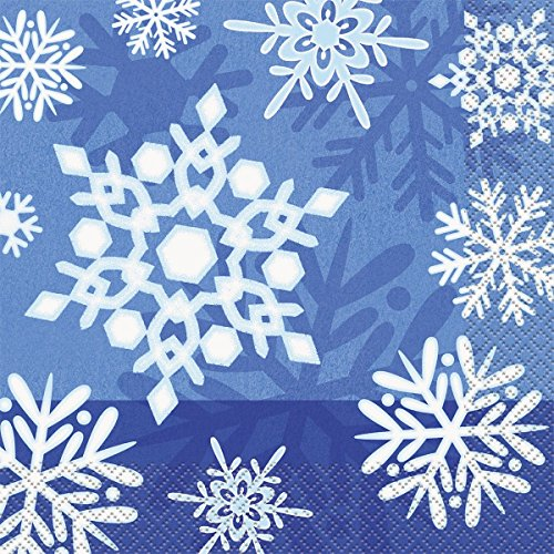 Snowflakes Luncheon Napkins (16 Pack) - Party (Community Halloween Costume Ideas)