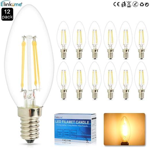 10X 4 W E14 LED bombilla de filamento, mazorca Epistar 450 lm LED blanco cálido