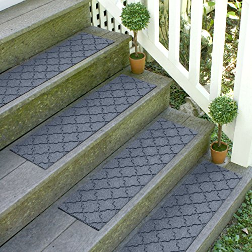 Bungalow Flooring Waterhog Stair Treads, Set of 4, 8-1/2