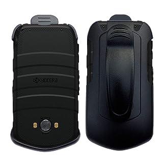 Cbus Wireless Black Holster Case w/Ratcheting Belt Clip for Kyocera DuraXV LTE E4610 (Verizon), DuraXE E4710 (AT&T, US Cellular)