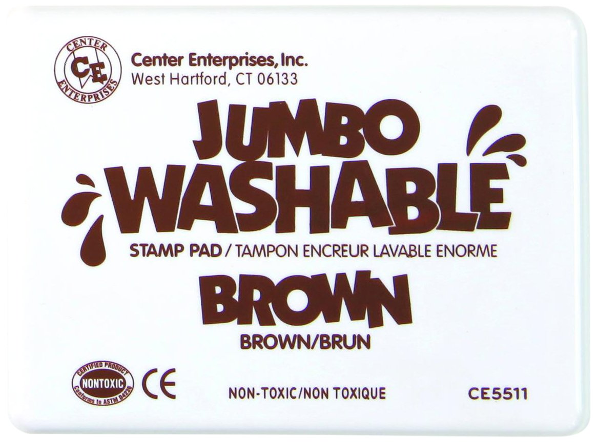 Center Enterprise CE5511 Jumbo Washable Stamp Pad, Brown