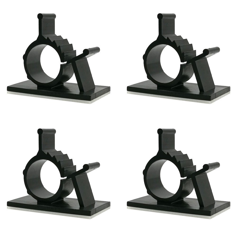 FireBee Adhesive Cable Clips Adjustable Wire Clamps Cable Tie Holders for Desk Wall Computer Electrical Cord (Black,Medium,60 Pcs) by FireBee (Image #7)