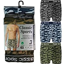 Fashion Box® Mens Army Camouflage Printed Classical Sports Boxer Shorts