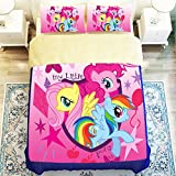 Fashionable My Little Pony 4 Piece Duvet Cover Set Queen Size