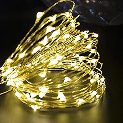 CrazyFire LED String Lights, Fairy String Light 33ft 100 LEDs Waterproof Decorative Starry Light for Bedroom, Patio, Parties (Copper Wire Lights)