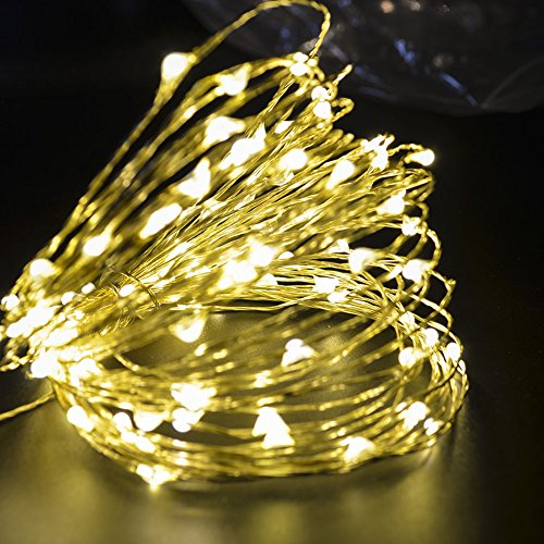 CrazyFire LED String Lights, Fairy String Light 33ft 100 LEDs Waterproof Decorative Starry Lights for Bedroom, Patio, Parties (Copper Wire Lights, Warm White) by CrazyFire (Image #1)