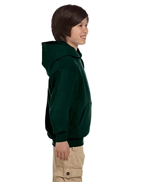 c401f857cd8 Amazon.com  Hanes Youth ComfortBlend® EcoSmart® Pullover Hoodie Deep  Forest XS  Clothing