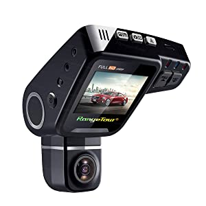 "Rangetour C10s Car Dash Cam 2.0"" LCD HD 1080P 170 Degree Wide Angle Nigth Vision Dashboard Hidden Video Recorder Camera with Novatek NT96650 Chip G- Sensor WDR Loop Recording, Free gift: 16GB Card"