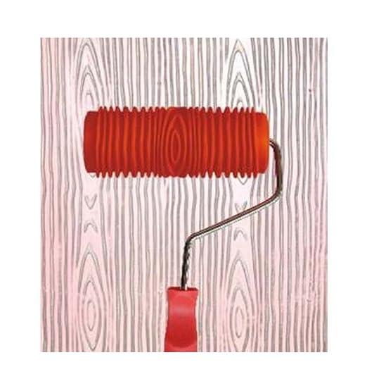 SODIAL 2 unids Grano de Madera grano de Goma Patin Pintura Efectos DIY Decoracion de La Pared herramientas