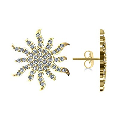 769fabd48 Image Unavailable. Image not available for. Color: Women's Diamond Sunburst  Earring ...