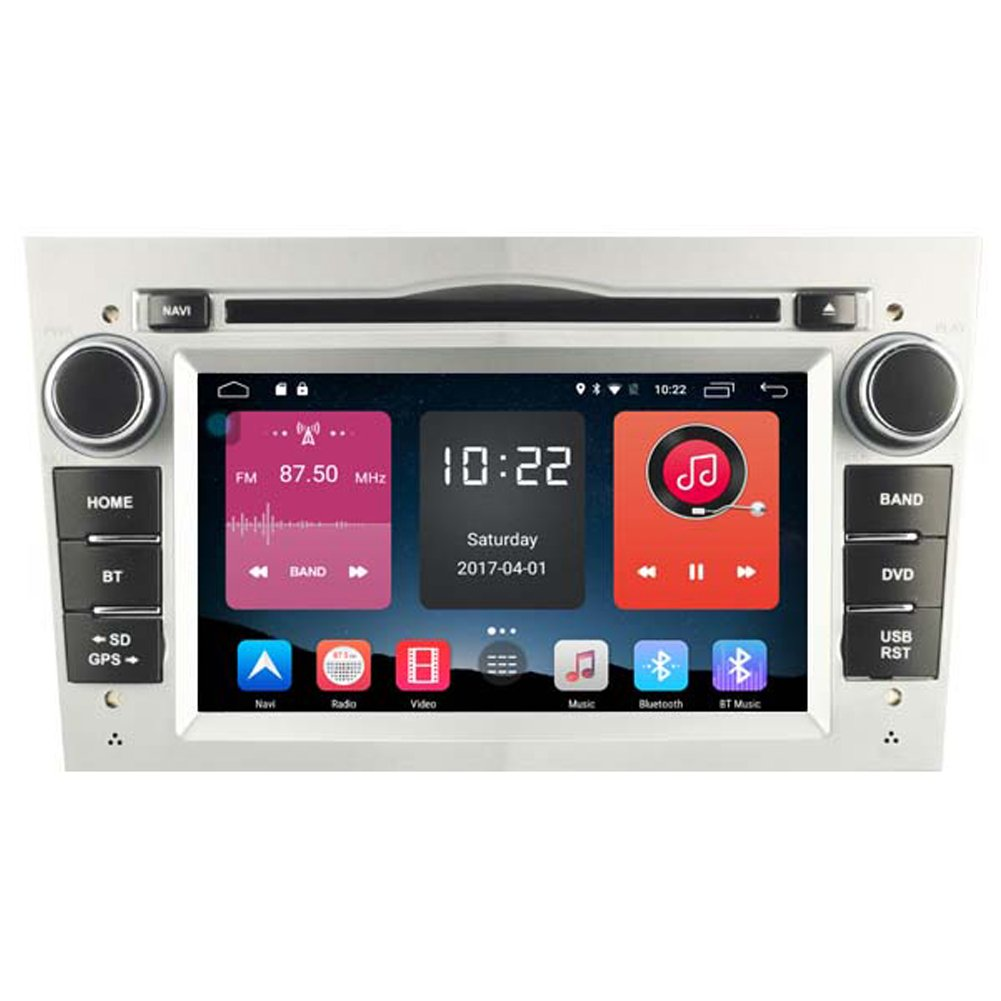 autosion in Dash Android 6.0車DVDプレーヤーラジオヘッドユニットGPSナビゲーションステレオシルバーfor Opel AstraベクトラCorsaアンタラコンボVivaro Zafira MerivaサポートBluetooth SD USBラジオOBD Wifi DVR 1080p B078BH3KTG