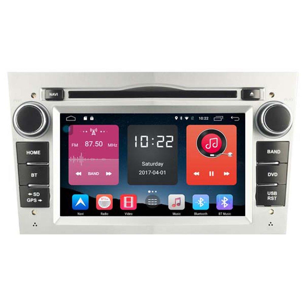 Autosion In Dash Android 6.0 Car DVD Player Radio Head Unit GPS Navigation Stereo Silver for Opel Astra Vectra Corsa Antara Combo Vivaro Zafira Meriva Support Bluetooth SD USB Radio OBD WIFI DVR 1080P