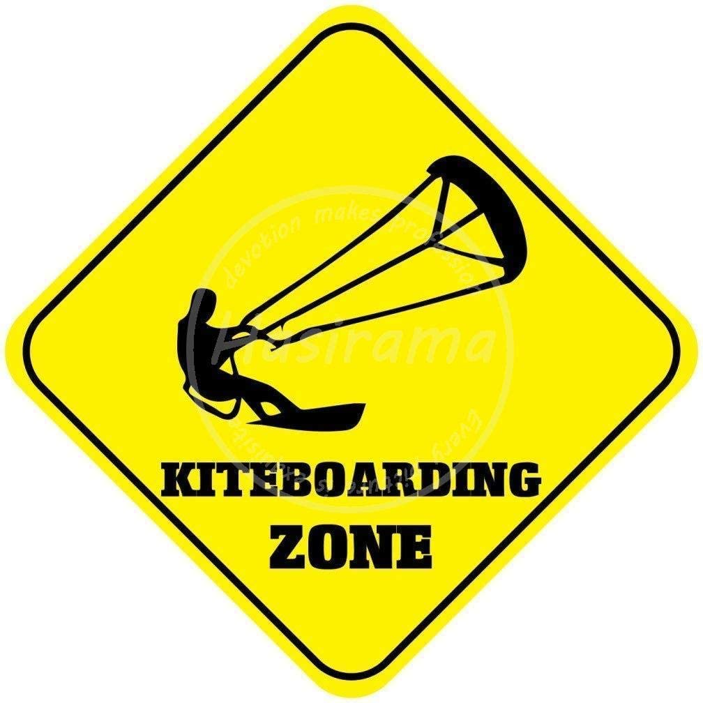 Adorepug Kiteboarding Zone Tin Wall Sign The Art Iron Painting Plaque Metal Wall Decoration Poster Decor Gifts for Office Home Man Cave Cafe Shop bar