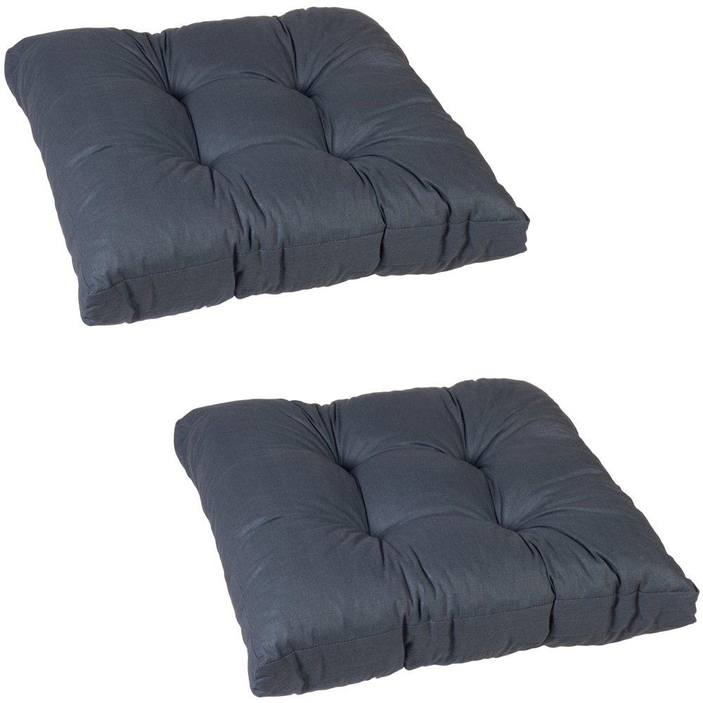 Beo Einfachkissen LKS AU91 Lounge Sitzkissen, circa 60 x 60 cm, 13 cm Dick, 2-er Pack, anthrazit