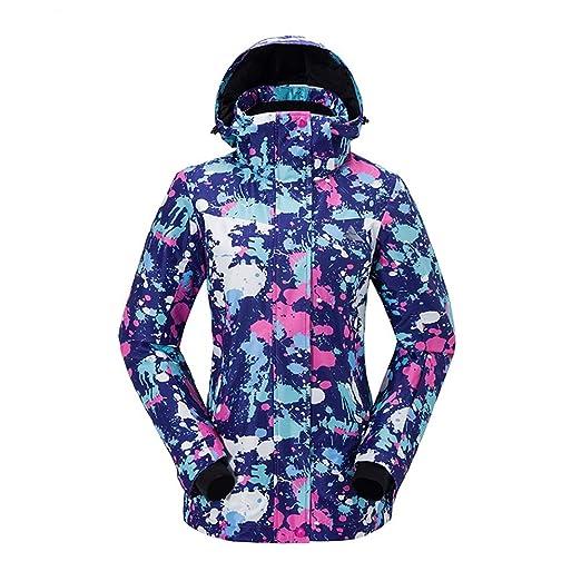 Chengzuoqing Traje de Esquiar Chaqueta de esquí para Mujer ...