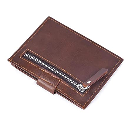 Real Leather Men/'s Womens Small Id Credit Card Wallet Holder Slim Pocket Case