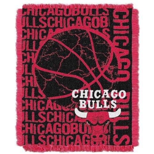 Northwest 019 NBA Chicago Bulls 48 x 60-Inch Double Play Jacquard Triple Woven Throw