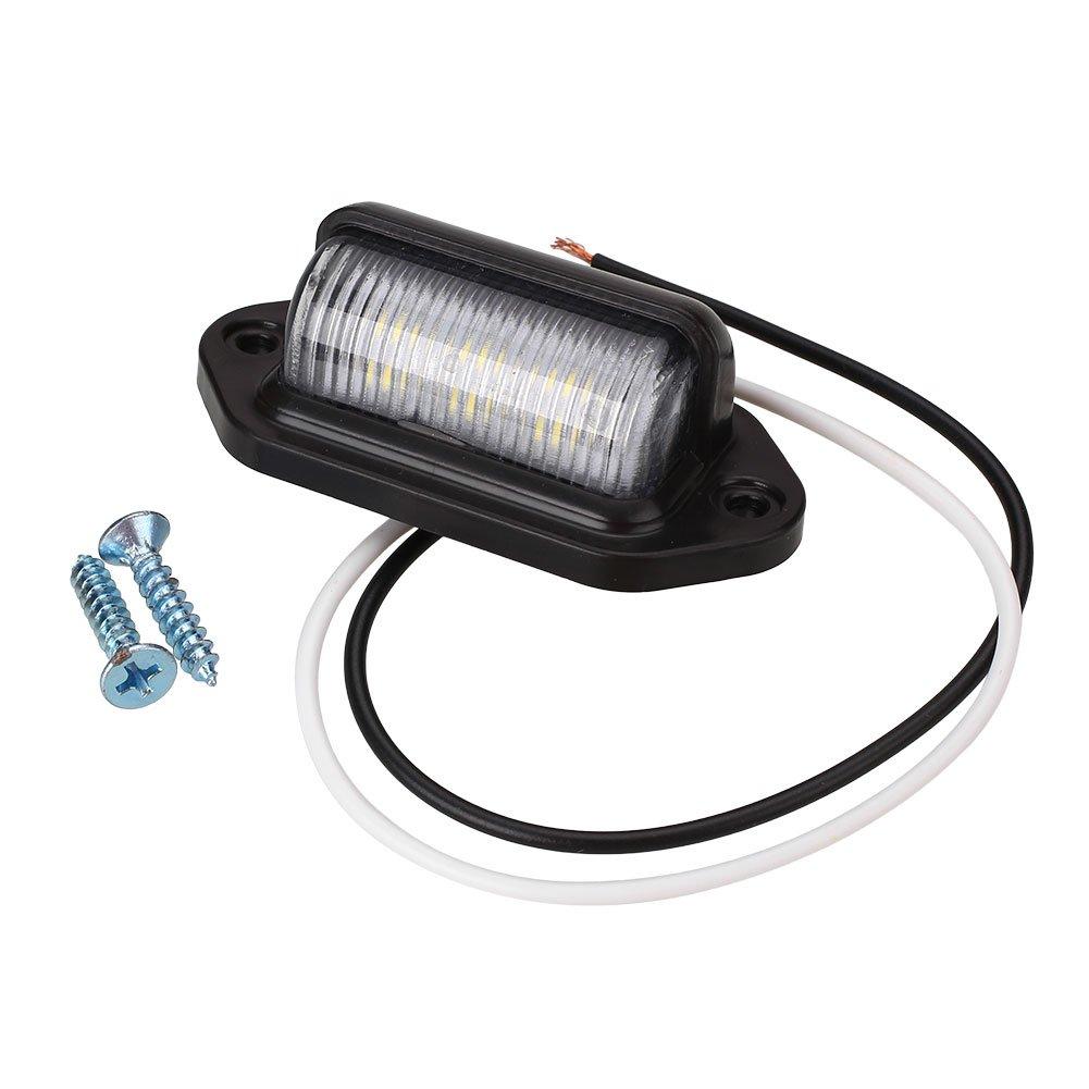Sedeta 1 pi/èce 6LED plaque dimmatriculation Nombre queue ampoule lampe Super brillant DC10-30V pour bateaux Moto RV camion