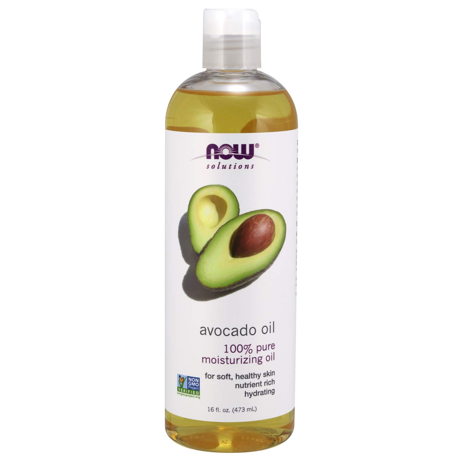 NOW Solutions, Avocado Oil, 100% Pure Moisturizing Oil, Nutrient Rich and Hydrating, 16-Ounce by NOW Foods