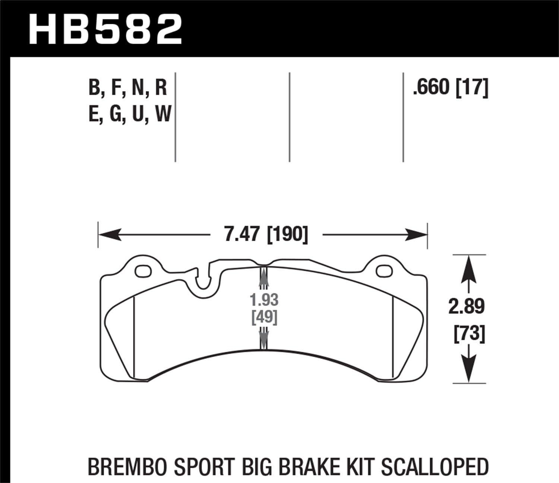 Hawk Performance HB582U.660 Disc Brake Pad